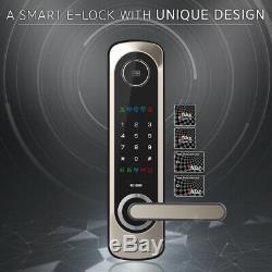 Keyless Lock Milre MI-6400S Smart Digital Doorlock Security Entry Passcode+RFID