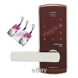 Keyless Lock Smart Digital Doorlock GATE-EYE MS801 Security Entry Passcode+RFID