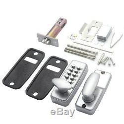 Keyless Mechanical Digital Push Button Door Lock Zinc Alloy Smart Home Entry