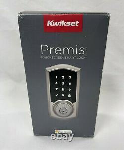 Kwikset 919 TRL Premis 15 SMT CP Touchscreen Keyless Entry Smart Lock With Re-Key
