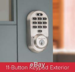 Kwikset 99380-001 Halo Wi-Fi Smart Lock Keyless Entry SmartKey Satin Nickel