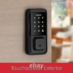 Kwikset Halo 99390-004 Wi-Fi Touchscreen Smart Lock Keyless Entry (Iron Black)