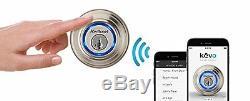 Kwikset Kevo Smart Deadbolt Door Lock Keyless Bluetooth Digital Touch Nickel iOS