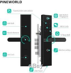L5 WiFi Bluetooth Fingerprint Lock, Smart Electronic Keyless Entry Door Mortise