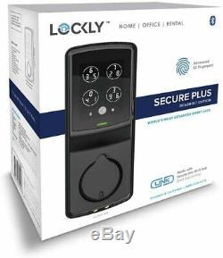Lockly Bluetooth Keyless Entry Smart Door Lock Keypad Deadbolt with Fingerprint