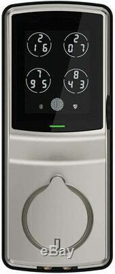 Lockly Keyless Entry Smart Lock Deadbolt with Touchscreen Keypad Satin Nickel