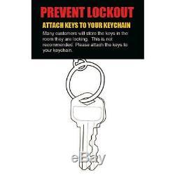 MiLocks Electronic Digital Keypad Lock Remote Control Keyless Entry 5-Pin Keyway
