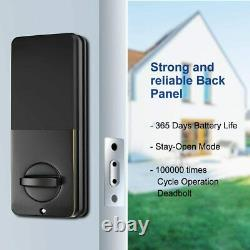 Narpult Smart Lock Electronic Deadbolt, Keyless Entry Door Lock with Wi-Fi and