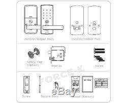 New Keyless Lock KOCOM KDL-710N Smart Digital Doorlock Passcode Silver/Blue 1Way