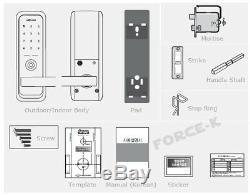 New Keyless Lock NUON I-500 Smart Digital Doorlock Mortise Passcode+4 RFID 2Way