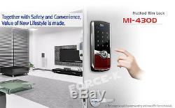 New Milre MI-430 Digital Doorlock Smart Entry Keyless Lock Pin + 4 IC Key Red
