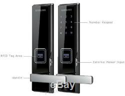 New SAMSUNG Keyless Lock SHS-H530 Smart Digital Mortise Doorlock Passcode+RFID