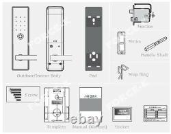 New Unicor UN-9050S Keyless Lock Smart Digital Doorlock Mortise Passcode+4 RFID