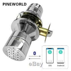 PINEWORLD Electronic Door Lock, Smart Bluetooth Digital APP Keypad Code Keyless