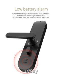 Pineworld Keyless Touchscreen Fingerprint Smart Door Lock, Cool Black Left