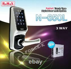 Ramax Digital Smart Doorlock N-650L Keyless Lock Passcode+RFID+Mechanical Key