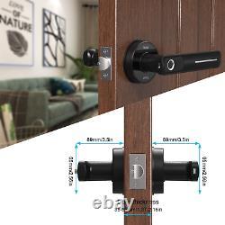 Rulart Fingerprint Electric Smart Door Lock Biometric Keyless Entry Door Handle