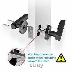 Ruveno Smart Door Lock, Biometric Keyless Entry Door Handle, WiFi Bluetooth APP