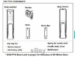 SAMSUNG SHS-DP710 Key Less PUSH PULL Digital Smart Door Lock (Pull From Outside)