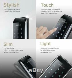 Samsung Ezon Smart Digital Door lock SHS-2920 keyless Black 2 ea Tough key