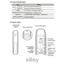 Samsung SDS SHS-DP820 Push Pull Handle Keyless Digital Smart Door Lock Mortise