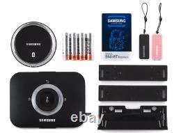 Samsung Smart Bluetooth Rim Lock SHP-DS705 Key Less Entry, Gloss Black & Silver