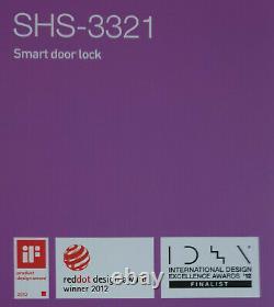Samsung Smart Door Lock Keyless Digital Deadbolt Lock SHS-3321 Black