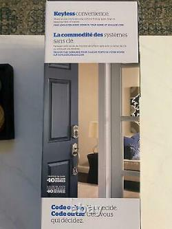 Schlage Keyless Entry Smart Lock with Alarm and Camelot Lever Handleset