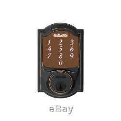 Schlage Sense Smart Deadbolt Keyless Lock SRE60078 CAM 716 Camelot Aged Bronze