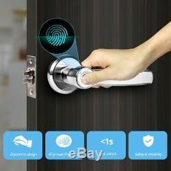 Security Smart Fingerprint Electronic Keyless Entry Door Lock with Key Unlock