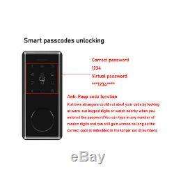 Smart BT-Door Lock Keyless Password Home APP Card Amazon Alexa Google Home Phone