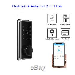 Smart BT-Door Lock Keyless Password Home Card Code Voice Google Home Touchscreen