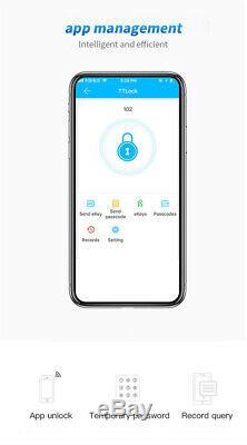 Smart Biometric Door Lock Bluetooth Phone App Unlock Keyless Touch Screen Keypad