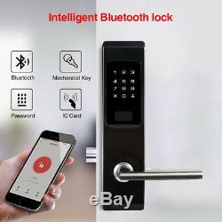 Smart Bluetooth Door Lock Key Password App Unlock Deadbolt Keypad Keyless Entry