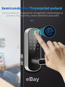 Smart Bluetooth Fingerprint Door Locks Code Card Wifi Keyless Doorlock Home Shop