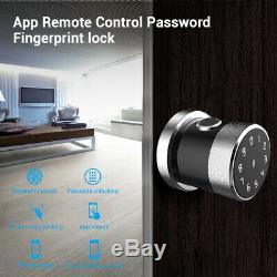 Smart Bluetooth Fingerprint USB Door Lock Phone APP IC Card Unlock Touch Keyless