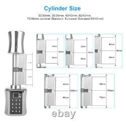 Smart Cylinder Lock With Tuya APP Keyless Electronic Fingerprint Door Lock D3U6