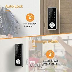Smart Deadbolt Keyless Entry Door Lock 5 in 1 Fingerprint Bluetooth APP Key F