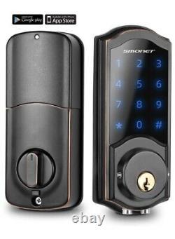 Smart Deadbolt, SMONET Bluetooth Door Lock Keyless, Touchscreen Keypad, Auto Loc