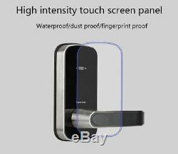 Smart Digital Door Lock, Electronic Keyless Security Lock Keypad Code or Card