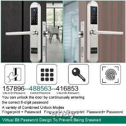 Smart Digital Electronic Door Lock Fingerprint Smart Touch Password Keyless Lock