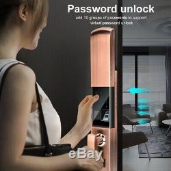 Smart Digital Electronic Door Lock Fingerprint Touch Password Keyless Keypad New