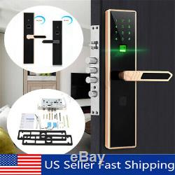 Smart Digital Electronic Door Lock Fingerprint Touch Password Keyless Keypad US