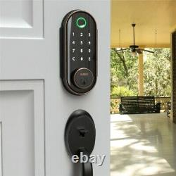 Smart Door Fingerprint Lock Touchscreen Keyless Electronic Keypad Digital Black