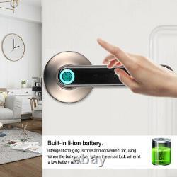 Smart Door Handle Lock APP+Fingerprint+Password Unlock Touch Keypad Keyless Home