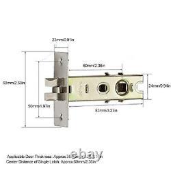 Smart Door Handle Lock APP Remote Control Fingerprint Password Unlock Keyless