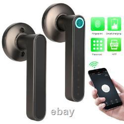 Smart Door Handle Lock Biometric Fingerprint Password APP Keyless Entr
