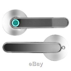 Smart Door Handle Lock Fingerprint Password App Remote Control For Home Security