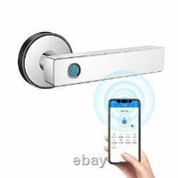 Smart Door Lock, Biometric Keyless Entry Door Handle, WiFi Bluetooth APP