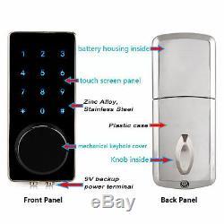 Smart Door Lock Bluetooth Keyless Lock Panel APP Monitoring Home Entry 200 Users